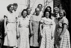 Londsdale Quliting Club - 3rd from left is Sallie Warford